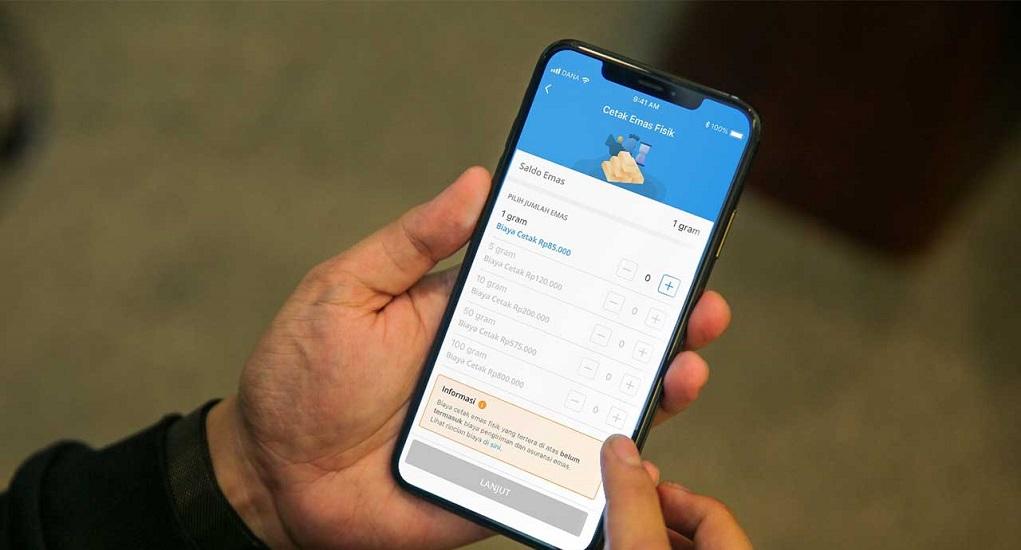 Aplikasi DANA Kini Bisa Cetak Emas Secara Fisik