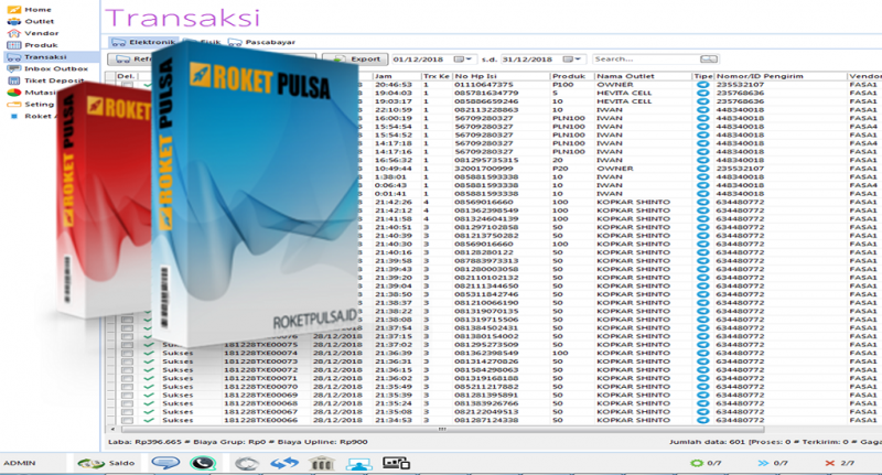 Roket Pulsa, Software Pulsa Berbasis Web